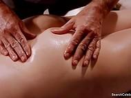 Mature woman Mimi Rogers enjoys sensual massage in obscene erotic movie Full Body Massage 7