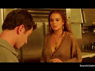 Fascinating Lindsay Lohan in bisexual group fucking clip from feature film The Canyons