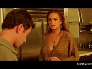 Fascinating Lindsay Lohan in bisexual group fucking clip from feature film The Canyons 7