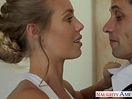 Gorgeous bride Nicole Aniston went to put on makeup and had awesome sex with witness 4