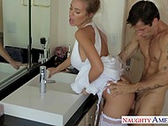 Gorgeous bride Nicole Aniston went to put on makeup and had awesome sex with witness