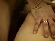 Male paid delightful Kayden Kross a visit and took opportunity to fool around with her unshaven pussy 11