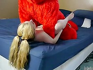 Plush monster Elmo visits his teenage girlfriend to try some adult stuff in her bedroom 10