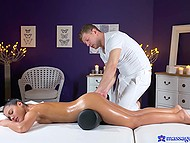 Sex with handsome guy makes oiled Latina discover something new about massage 3