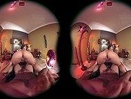 After nice fingering, good-looking chick actively shook buttocks to make man feel good in VR porn video 10