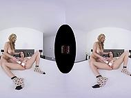 Загорелая цыпка с большими дойками и хрупкая брюнетка отвлеклись от готовки, чтобы пошалить в VR XXX видео