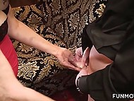 Guy in mask pleases busty beauty before arriving at another mature who wants to blow him 6