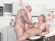 Doctor with big dick deals with his sexy patient who is in need of professional help