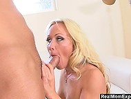 Stunning blonde Sadie Swede brought at home Asian stud who was eager to please her 5