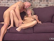 Great MILF with big boobies behaves at casting like a real pornstar with developed sex skills