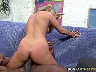 Beauty just woke up and got very excited when noticed great black cock next to her 8