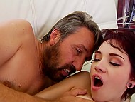 Cute brunette Cadey Mercury with short hair is one of chicks who love vaginal creampie 4