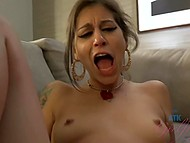 Nice princess after bath waits when her boyfriend will give her nice pussy massage with fingers