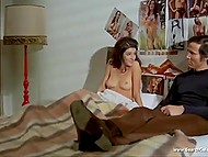 Handpicked scenes of naked Italian actress Antonia Santilli from vintage action movie