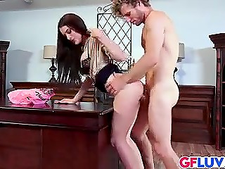 Mind-boggling Lana Rhoades enters young boss's office for daily portion of sexual pleasure