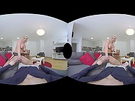 Reality Lovers presents blonde from Germany gives blowjob and fucks in VR sex video