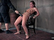 Her pain and fear excite him and he tries to bring satisfaction to himself and his victim too