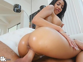 Latina babe Shay Evans has grown immense tits and booty and now she can seduce chaps at ease