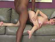 Voluptuous pornstar just says about big black dick when he appears to dive into her cunt 6