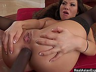 Japanese dislikes small wieners of countrymen, she needs big and fat black cock to penetrate her 9