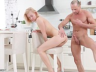 Wild anal sex with experienced fellow was needed for fragile blonde to feel great in Russian video