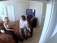 Big-tittied MILF had coition with stepson but they couldn't even imagine that hidden cams were there 5