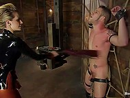Mistress has a little secret so she wants to punish poor guy and get some pleasure