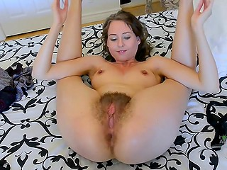 Housewife is bored at home so she decides to play some dirty games with her hairy hole