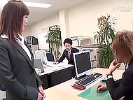 Japanese girl is decent office worker all the day long but when the night comes she transforms into crazy whore 4