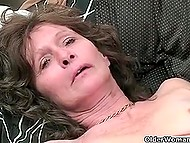 Compilation of amateur clips featuring old perverted woman polishing unshaven cunt 3
