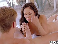 Ariana Marie gets bored of living together with boyfriend and seduces handsome roommate 5