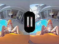 Leeloo came here from another planet to taste cock of a lucky guy and get fuck by him in VR video