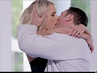 Karate coach recently divorced so blonde apprentice realized that can take care of his dick 4