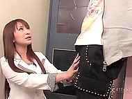 Business lady from Japan is ready to have sex with partner to make a good deal 4