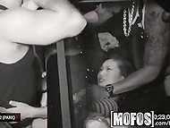 Young Chinese whore offers full range of services to two guys in the car at midnight 11