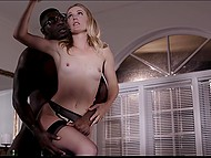 MILF invites her black friend for glass of champagne and then he decides to satisfy that cutie 9