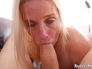 Amateur blonde comes to casting to show how she loves sucking cock and swallowing sperm 4
