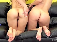 Lesbian scene with participation of Natalia Starr and Anikka Albrite gratifying pussies with sex toys 10