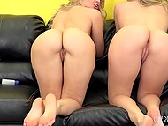 Lesbian scene with participation of Natalia Starr and Anikka Albrite gratifying pussies with sex toys 9