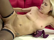 Young dude wants to taste that MILF and she is ready for good sex so even swallows his sperm 8