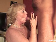 Mature woman with great breasts enjoys hot sex with thoughtful male in German video