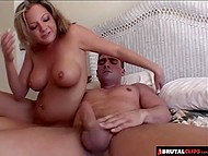 Wonderful blonde gets horny when big dude drills her ass with his mighty stick 10