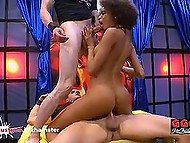 Exotic Brazilian Luna Corazon keeps the rhythm of dance even riding hard German boners