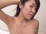 Porn video of aspiring Japanese porn actress, who got to suck stranger's dick on camera 10