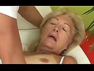 Master can repair broken TV later because old client's anal hole is in strong need of cock 3