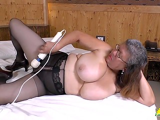 Naughty Latina matures prefer to touch their sweet pussies with vibrators and not only