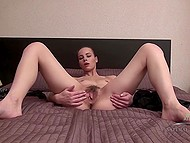 Colleen feels extraordinary pleasure when she spreads her hairy pussy lips 9