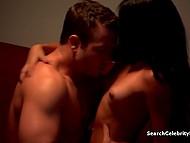 Brunette lovely and muscled boyfriend fling themselves into tender lovemaking 11