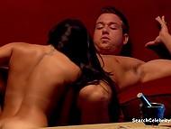 Brunette lovely and muscled boyfriend fling themselves into tender lovemaking 4