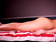 Skillful masseuse pleases good-looking clients with unforgettable and well-done massage 10
